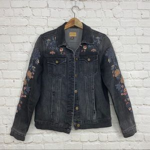 Driftwood embroidered beaded distressed jacket